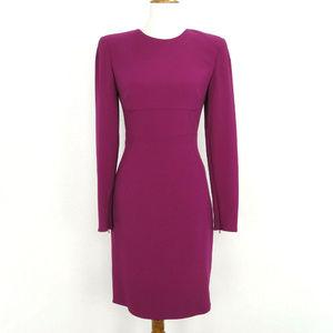 Stella McCartney Dress 40 Fuchsia L/S Backless